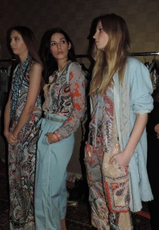 Backstage at Etro