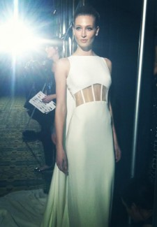 Backstage at Pamella Roland